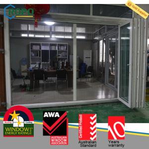 PVC Outdoor Bifold Folding Door with Retractable Screen pictures & photos