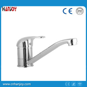 Zinc single handle hot/cold water mixer faucet for kitchen sink pictures & photos