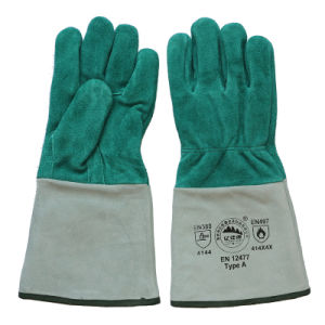 Ab Grade Cowhide Split Leather Protective Welder′s Gloves pictures & photos