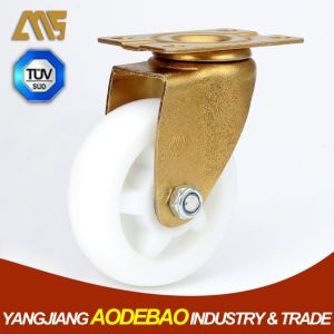 Light Duty Golden Plating Swivel Nylon Caster Wheel