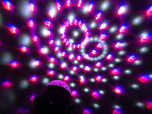 5 Colors LED DJ Party Light Rgbwp Mini LED Crystal Magic Ball Light Projector with Remote Control pictures & photos
