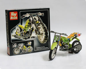 Kids Plastic Puzlle Blocks Motorbike Toy pictures & photos