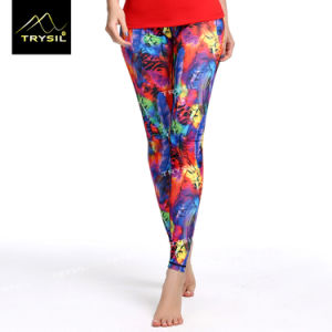 Colorful Printed Footed Pants Foot Legging Yoga Leggings pictures & photos