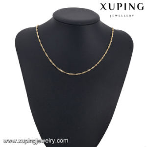 Fashion Jewelry Gold Plated Single Wave Necklace Chain in 2mm pictures & photos