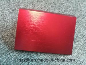 Customized Optional Colored Brushed Anodizing Extrusion Profile pictures & photos