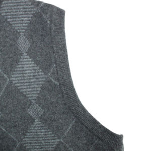 Bn1648 Men′s Yak and Wool Blended Luxury V Neck Knitted Waistcoat pictures & photos