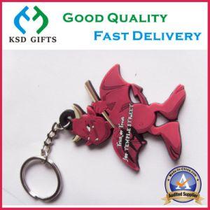 Animal Design Custom 3D Rubber PVC Keyrings pictures & photos