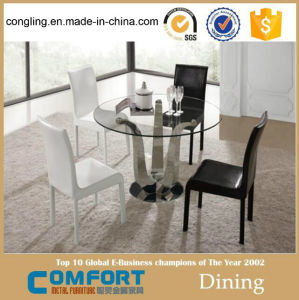 Hot Sale Round Simple 6 Seater Dining Table (A8087R) pictures & photos
