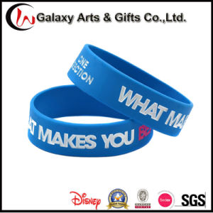 Customized Debossed Printed 100% Silicone Wristband/Wrist Band pictures & photos