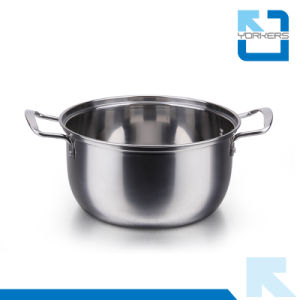 Cheap Stainless Steel Soup Cooking Pot Metal Pot pictures & photos