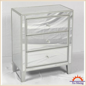 Home Furniture 3-Drawer Wooden Mirrored Accent Chest pictures & photos