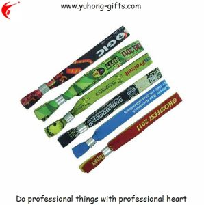 Woven Wristband Bracelet for Promotion (YH-WW002) pictures & photos