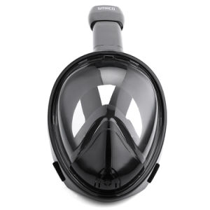 Black Full Face Snorkeling Mask Anti-Fog 270 Degree Seaview Without Gopro Camera Mount Ce FDA pictures & photos