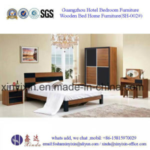 Foshan Factory Wooden Bed Modern Bedroom Furniture (SH-002#) pictures & photos