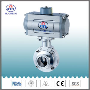 Stainless Steel Horizontal Type Aluminium Pneumatic Actuator Clamped Butterfly Valve for Pharmacy, Food and Beverage Processing pictures & photos