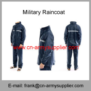 Reflective Raincoat-Duty Raincoat-Traffic Raincoat-Army Raincoat-Security Raincoat-Police Raincoat pictures & photos
