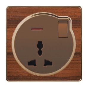 British Standard Wood-Textured 13A Multi-Functional Switch Wall Socket with Neon pictures & photos