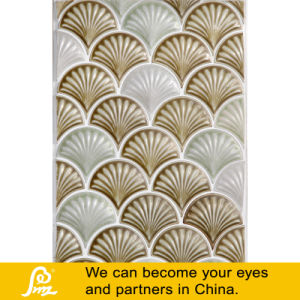 Ceramic Mosaic of Shell Shape Art Design White and Brown pictures & photos