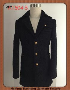 European Style Men Clothing Classic Tweed Coat