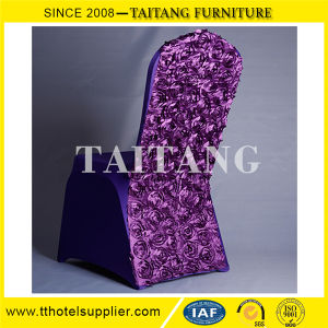 High Quality 100% Polyester Plain Wedding Spandex Chair Cover pictures & photos