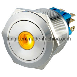 25mm Self-Locking 2no2nc Dustproof Ring Metal Anti-Vandal Push Button Switch pictures & photos
