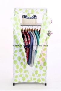 Amjsjw012b Fabric Wardrobe Cloth Garment Rack Shelf Stand pictures & photos