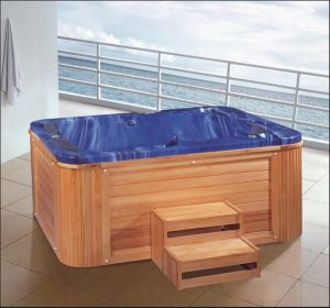 2150mm Blue Free Standing Outdoor SPA for 3 Poeple (AT-8805) pictures & photos