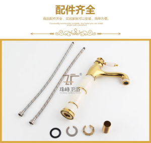 New Design Jade Brass Basin Faucet (Zf-708) pictures & photos