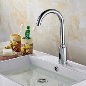 Flg Fully Automatic Auto Sensor Faucet Sink Water Tap pictures & photos