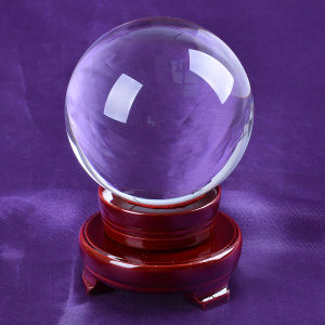 80mm Big Clear K9 Crystal 3D Laser Engraved Ball pictures & photos