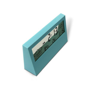 Desktop Transparent LCD Display Digital Weather Sation Clock for Promotion pictures & photos