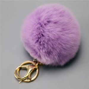 Rabbit Fur Keycahin with Top Quality Rex Rabbit Fur Skin pictures & photos