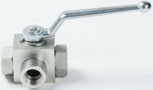 High Pressure Carbon Steel 3 Way Hydraulic Ball Valve pictures & photos