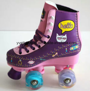 Quad Roller Skate with Different Shoe Heel (YVQ-003) pictures & photos