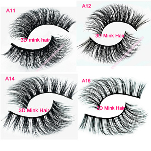 China 3D Mink Eyelashes Wholesale Lilly 100% Real Mink Fur ...