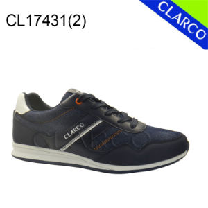 Men Casual Sports Sneaker Shoes with TPR Sole pictures & photos