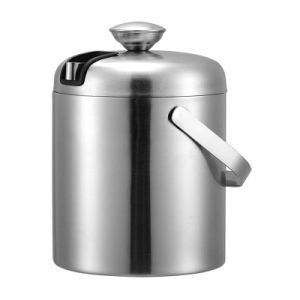 High Quality Stainless Steel Ice Bucket 1.2L Double Wall pictures & photos