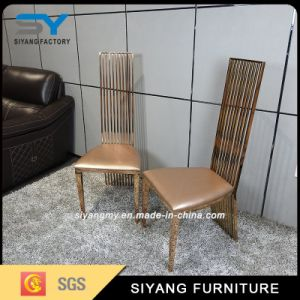 Hotel Furniture Dining Set Rose Gold Tiffany Chair pictures & photos