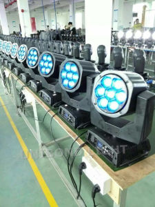 7PCS 15W with LED Bulb 4-in-1 Be Eye Moving Head and Stage Light pictures & photos