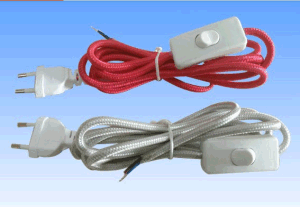 Power Cord for Cable with Switch Lamp Holder Euro Plug pictures & photos
