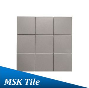 "4X4""Matt Light Grey Glazed Porcelain Floor and Wall Tile pictures & photos"