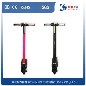 New Product 2016 Fashion Mini Carbon Fiber Electric Scooter with LED Light Electrical Scooter pictures & photos