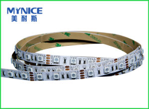 Hottest Selling Safety Waterproof IP65 IP68 High Brightness Flexible LED Strip SMD5050 60LED/M RGB 14.4W/M CRI>80 12V 24V LED Rope 2 Oz Double FPCB 5m/Reel RGB pictures & photos