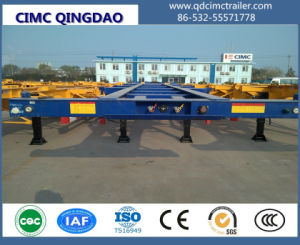 Cimc China 40FT Contaienr Semi Trailer for Sale Flatbed and Skeleton Option Truck Chassis pictures & photos