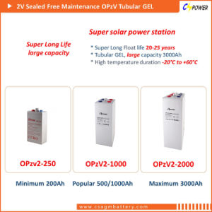 2V800ah Tubular VRLA Gel Solar Power Battery 2V 800ah Opzv2-800 pictures & photos