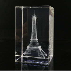 3D Laser Engraved K9 Crystal Glass with Photo Cube pictures & photos
