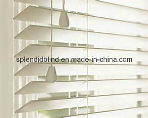 50mm Basswood Slats Ladder Tapewood Blinds Ladder Tape Wand Tilter 50mm Louver Wooden Slats Blinds pictures & photos