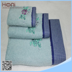 100% Cotton Towel Sets, Embroidery Towel Sets