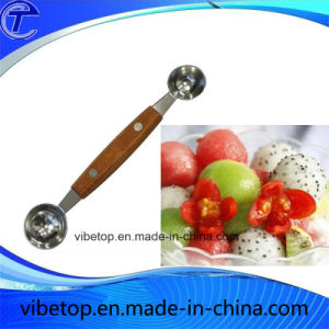 Kitchen Tools Double Sided Fruit Spoon Measuring Spoons Ball Spoon pictures & photos