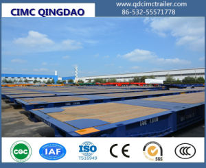 Cimc 40FT Flatbed Container Gooseneck Roll Mafi Trailer Chassis pictures & photos
